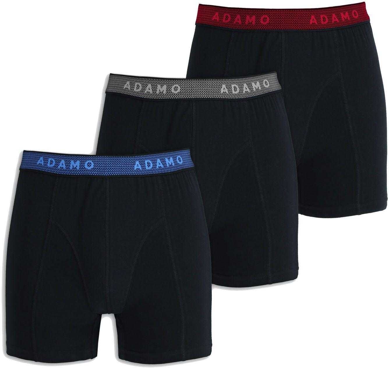 Pack de 3 Boxers Stretch Noir Adamo du 2XL au 8XL