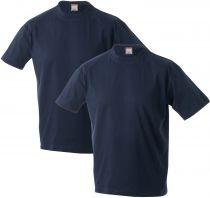 Pack de Deux Tshirt Marlon Bleu Marine Adamo du 2XL au 12XL