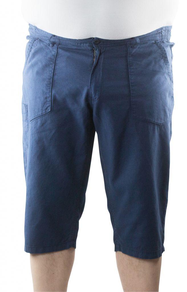 Pantacourt en Lin Bleu Marine All Size 42US au 62US