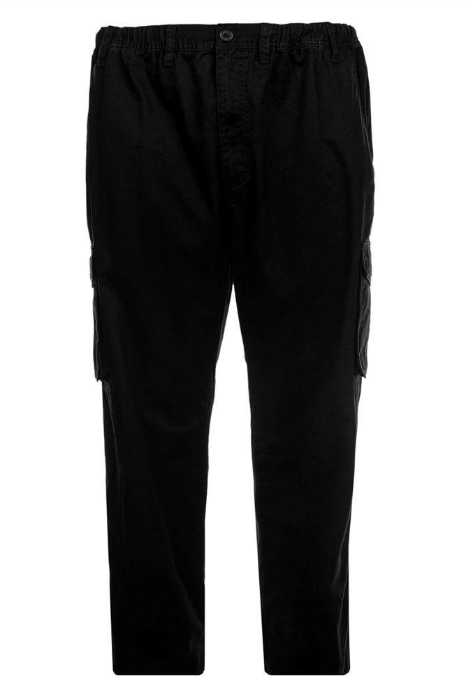 Pantalon Cargo Taille Elastiquée Noir Espionage du 2XL au 8XL