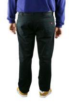 Homme Mario Taille Grande Noir Pantalon De Casual Duke XiPkZu