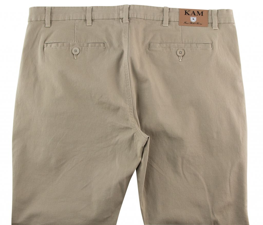 Pantalon Chino Beige Kam Jeans du 54fr au 88fr