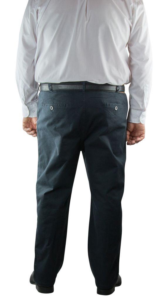 Pantalon Chino Bleu Marine Kam Jeans du 42US au 70US