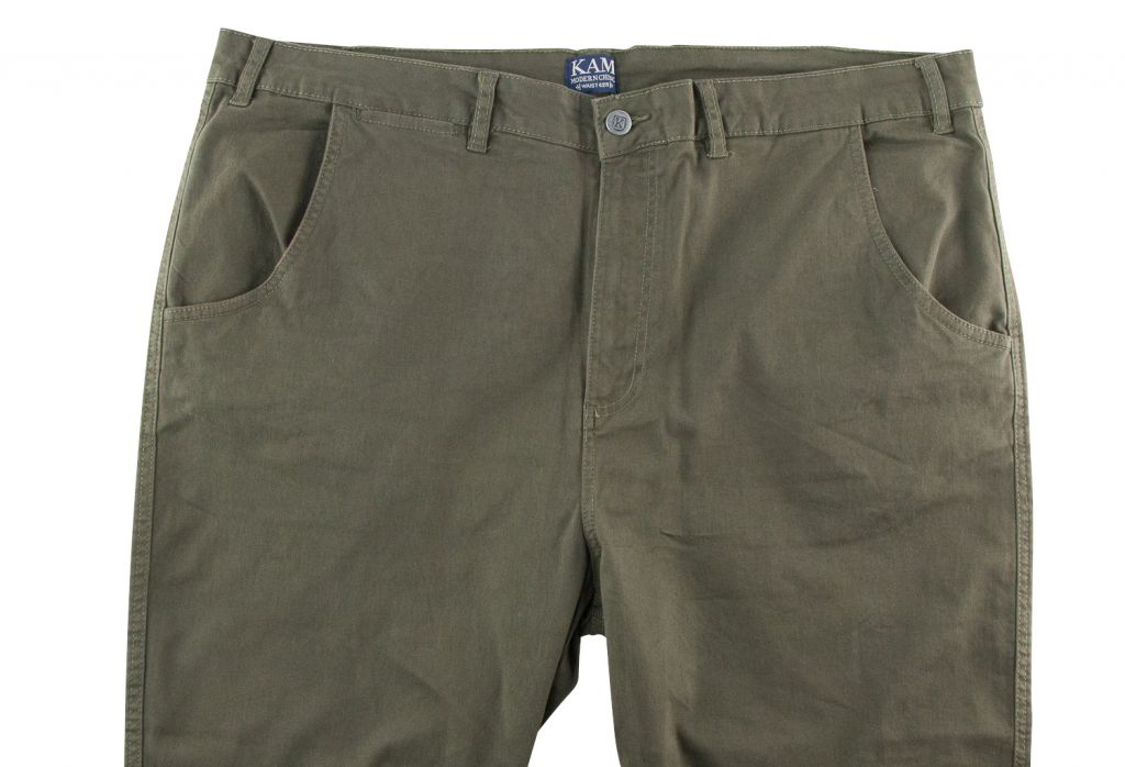 Pantalon Chino Kaki Kam Jeans du 54fr au 88fr