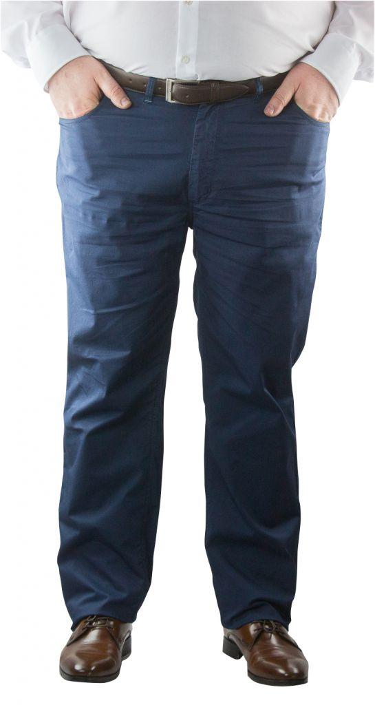 Pantalon Chino Stretch Toile Ultralégère Bleu Marine Maxfort du 52fr au 88fr