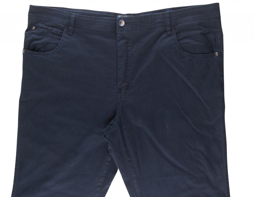 Pantalon Chino Stretch Toile Ultralégère Bleu Nuit Maxfort du 52fr au 70fr