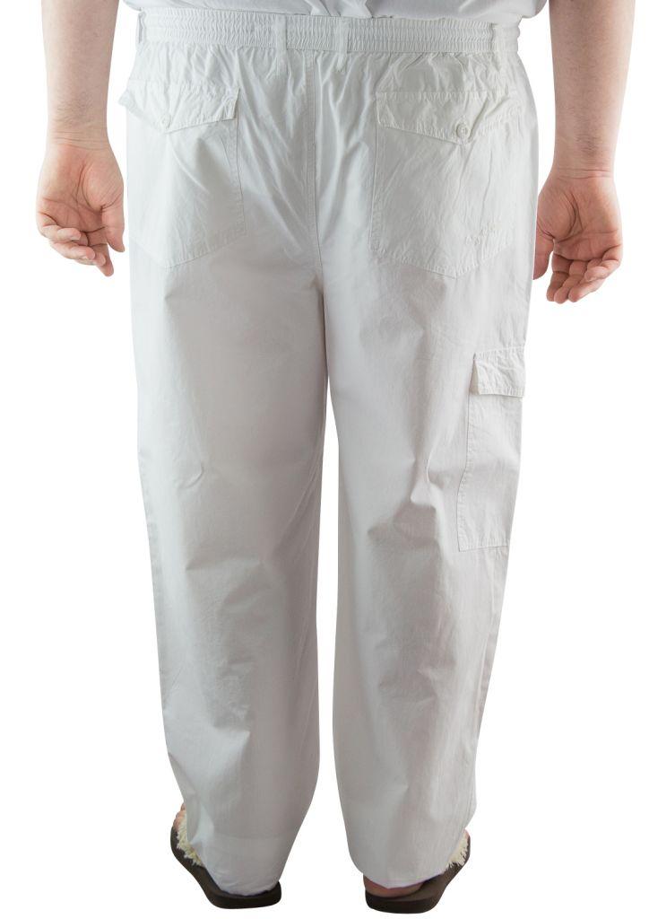 pantalon d 39 t toile coton blanc maxfort du 2xl au 8xl. Black Bedroom Furniture Sets. Home Design Ideas
