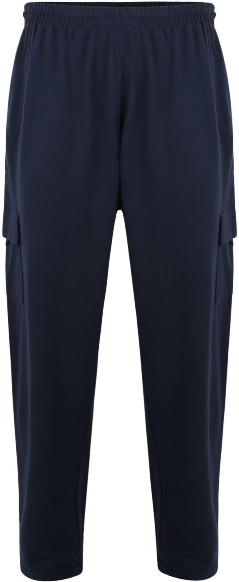 Pantalon de Jogging Bleu Marine Grande Taille KAM JEANSWEAR Taille Haute