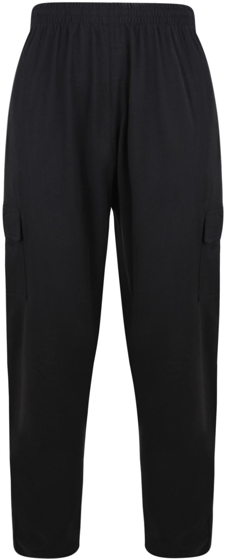 Pantalon de Jogging Noir Grande Taille KAM JEANSWEAR Taille Haute