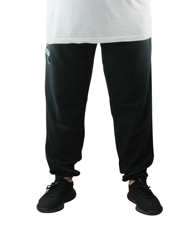 Pantalon de Jogging Ottoman 100% Coton Noir All Size