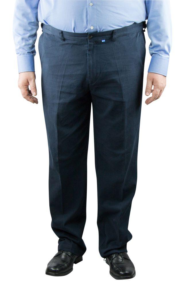 "Pantalon Grande Taille Chino \""Bruno\"" Bleu Marine Duke"