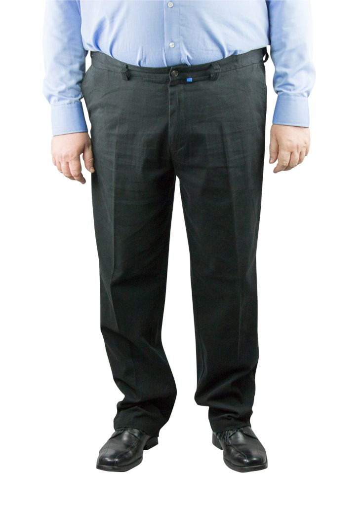 "Pantalon Grande Taille Chino \""Bruno\"" Noir Duke"