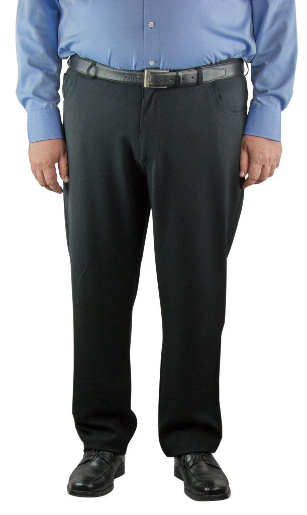"""Pantalon Grande Taille Homme \""""Beck\"""" Noir Duke"""