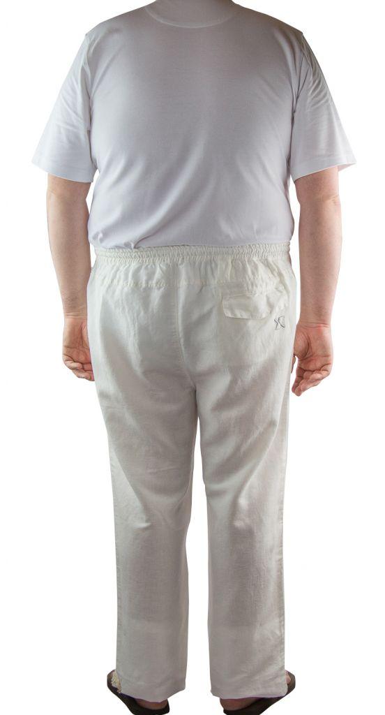 pantalon lin blanc maxfort du 3xl au 8xl. Black Bedroom Furniture Sets. Home Design Ideas