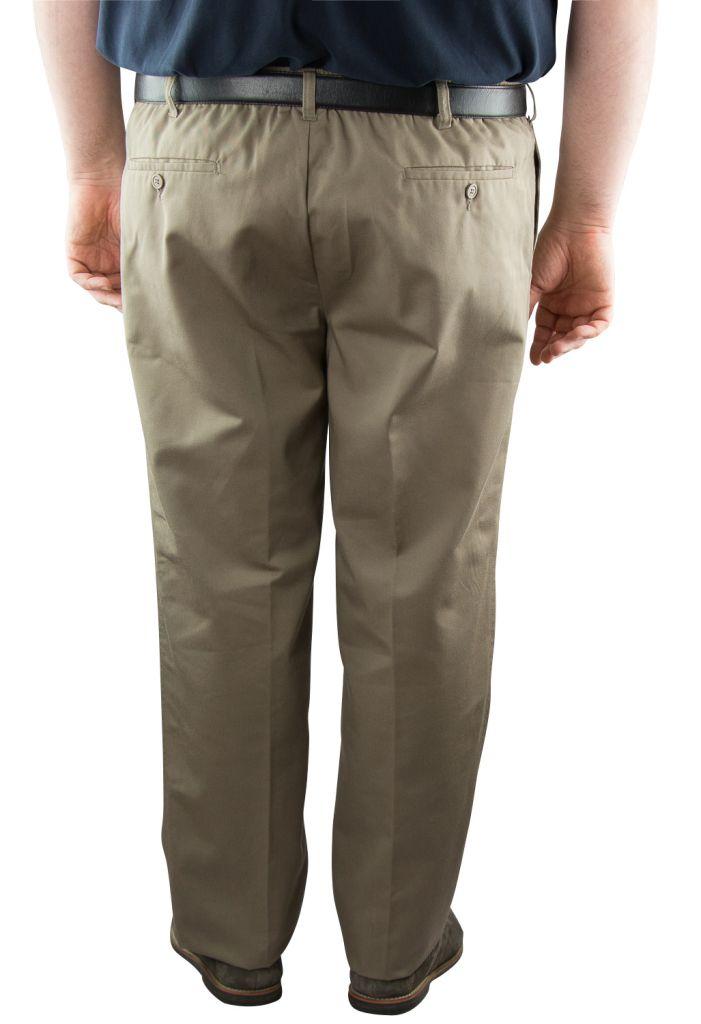 """Pantalon Taille Élastiqué \""""Basilio\"""" Beige de DUKE"""