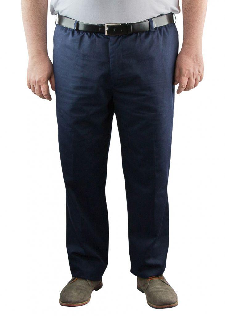 "Pantalon Taille Élastiquée \""Basilio\"" Bleu Marine de DUKE"