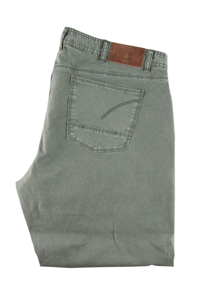 Pantalon Twill Jean Collection North 56°4 Gris Vert All Size