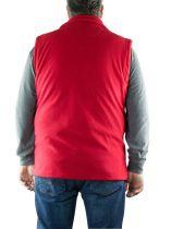 Polaire Sans Manche Homme Grande Taille Rouge Brigg du 2XL au 10XL