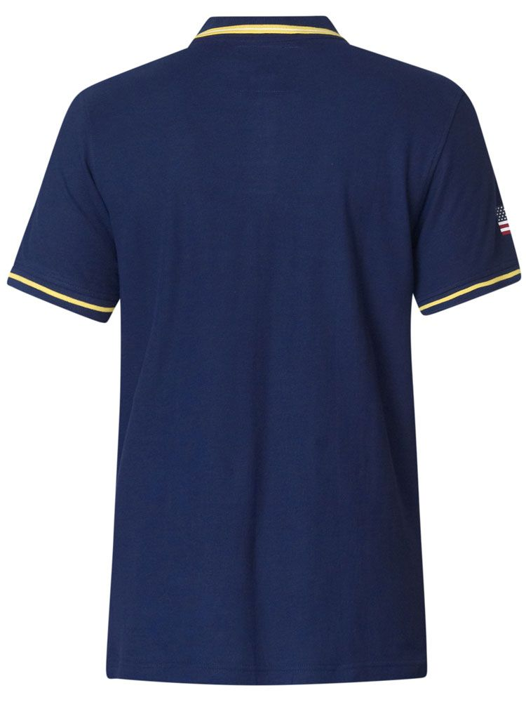 Polo Manches Courtes Blanc & Bleu Marine  Duke du 3XL au 6XL