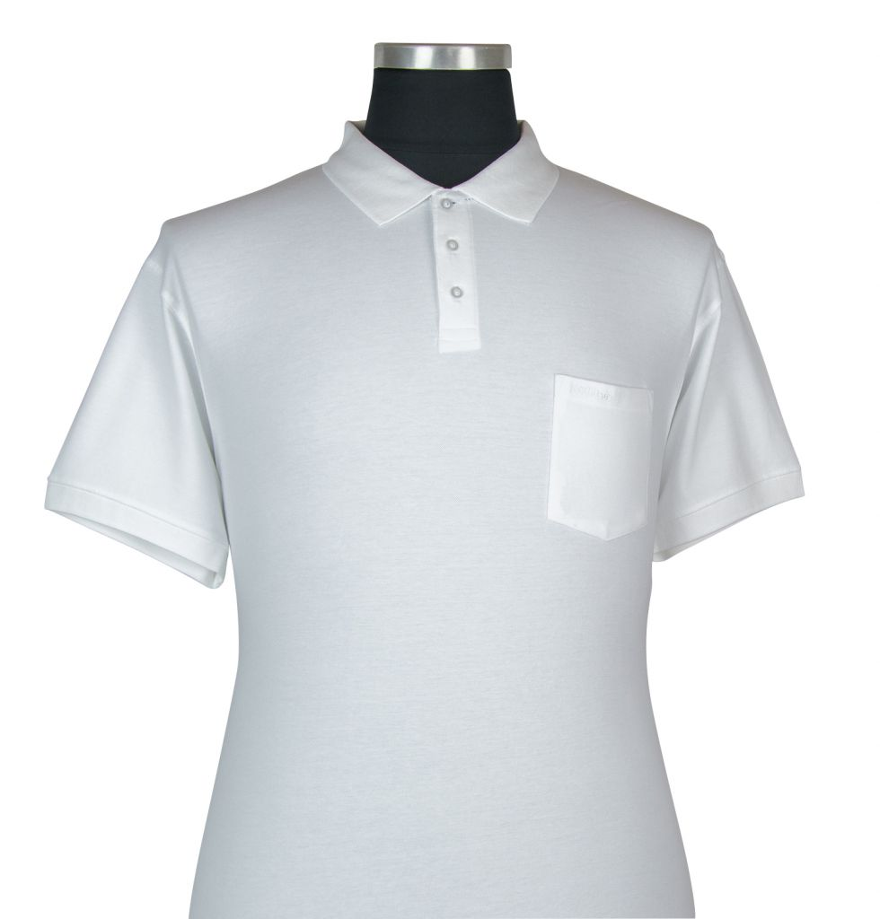 Polo Manches Courtes Blanc du 2XL au 8XL All Size