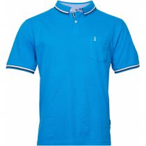 Polo Manches Courtes Bleu All Size du 2XL au 8XL