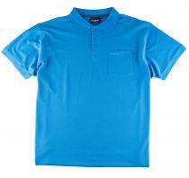 Polo Manches Courtes Bleu du 2XL au 8XL All Size