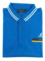 Polo Manches Courtes Bleu Kangol du 2XL  au 5XL