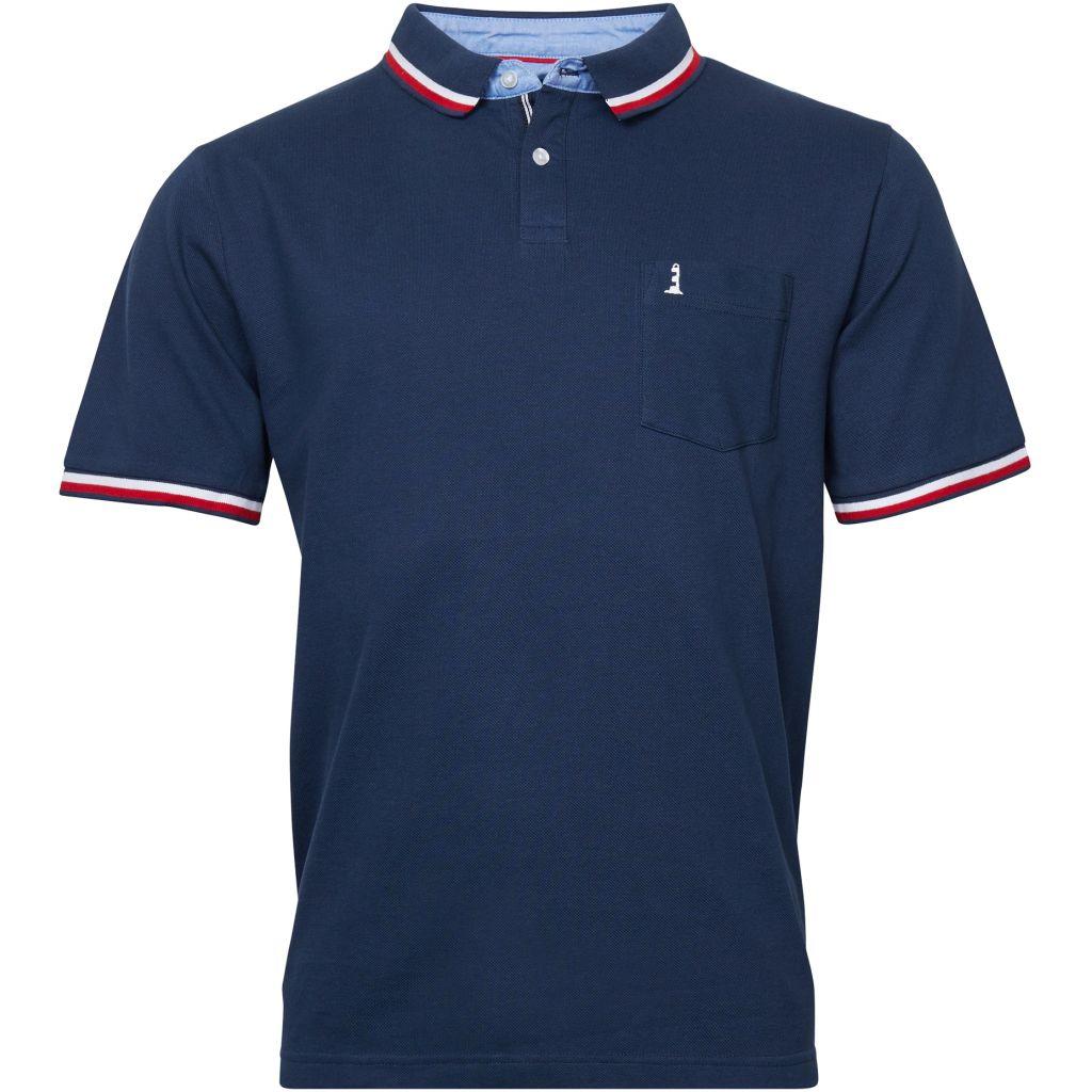 Polo Manches Courtes Bleu Marine All Size du 2XL au 8XL