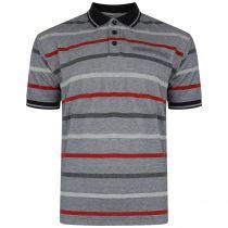 Polo Manches Courtes Gris Kam Jeanswear du 2XL au 8XL