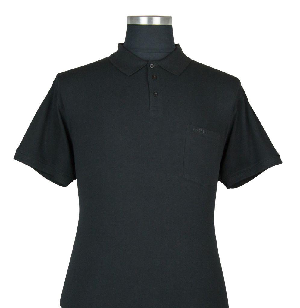 Polo Manches Courtes Noir du 2XL au 8XL All Size