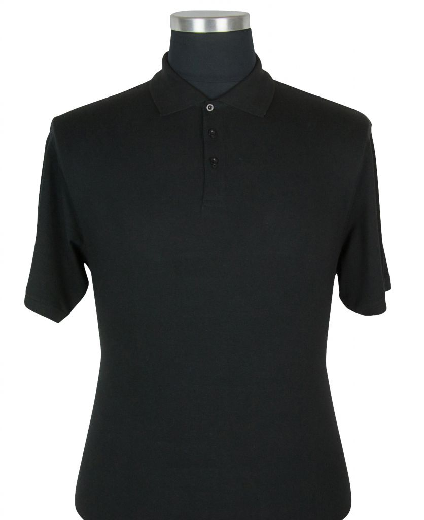 Polo Manches Courtes Noir du 2XL au 8XL