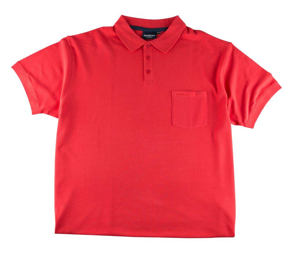 Polo Manches Courtes Rouge du 2XL au 8XL All Size