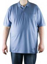 Polo Uni Manches Courtes Bleu Azur Kitaro