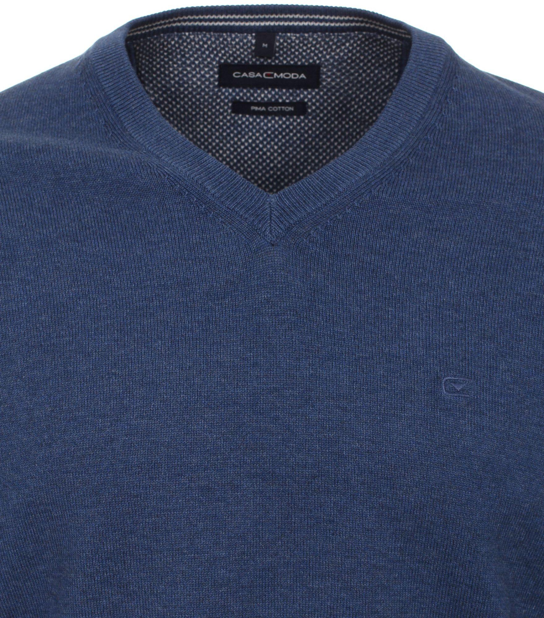 Pull Col V Bleu Marine Casa Moda