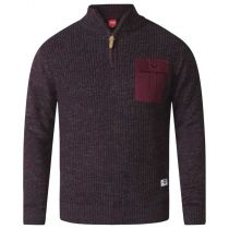 Pull Col Zip Bordeaux 2XL à 5XL Duke