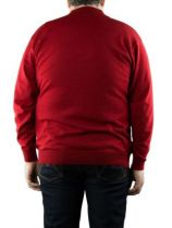 Pull Laine Wollmark Col Zip Rouge Monte Carlo