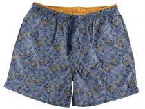 Short de Bain Gris-bleu à Fleurs Kitaro du 2XL au 8XL
