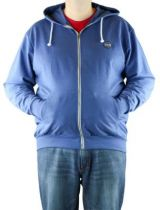 Sweat à Capuche Zippé 100% Cotton Bleu All Size