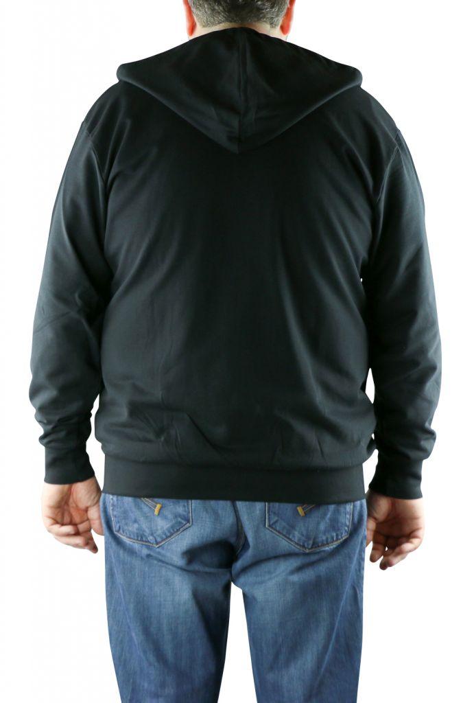 Sweat a capuche zippe noir All Size