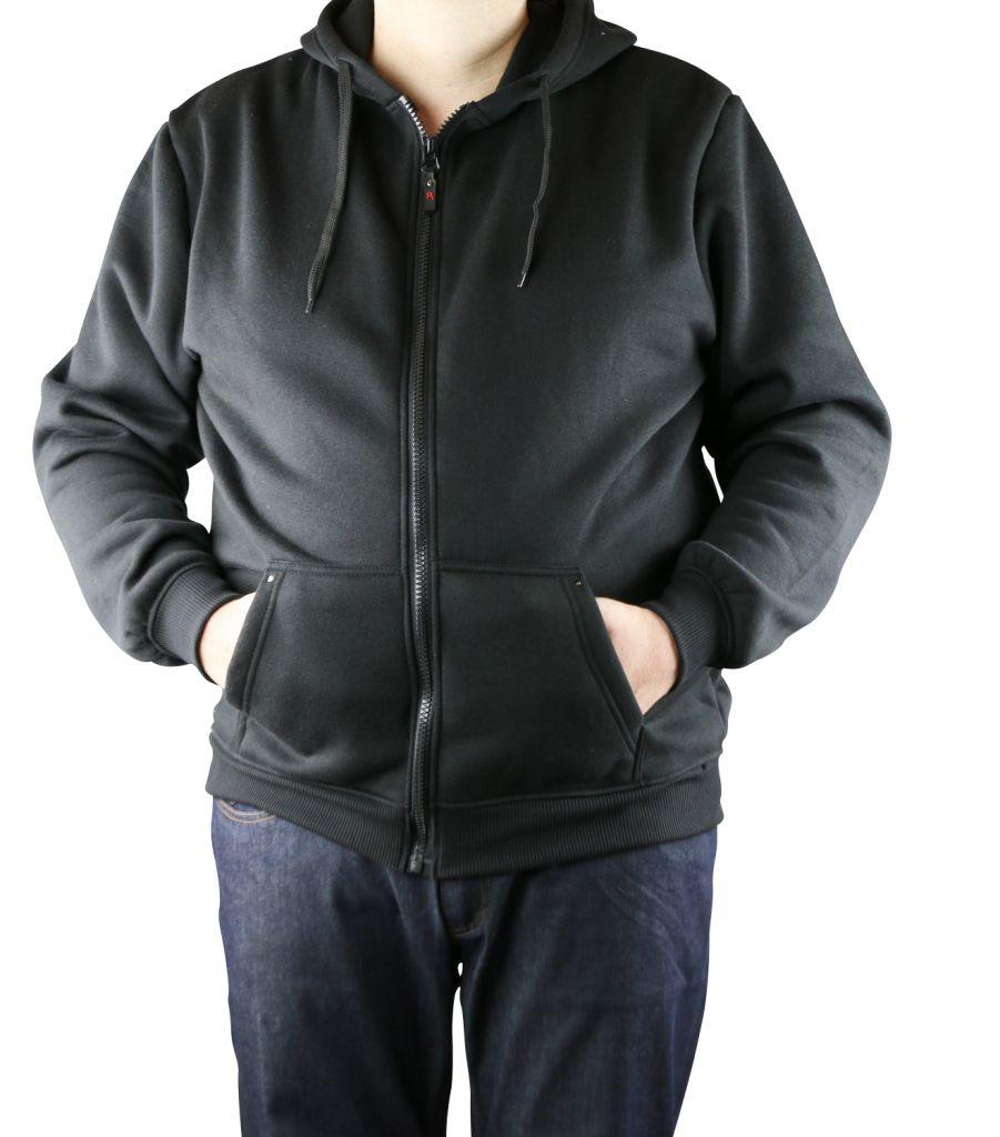 sweat capuche zipp noir grande taille cantor de duke. Black Bedroom Furniture Sets. Home Design Ideas