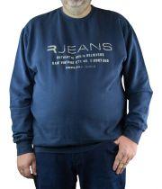 Sweat Col Rond Grande Bleu Marine du 2XL au 8XL All Size