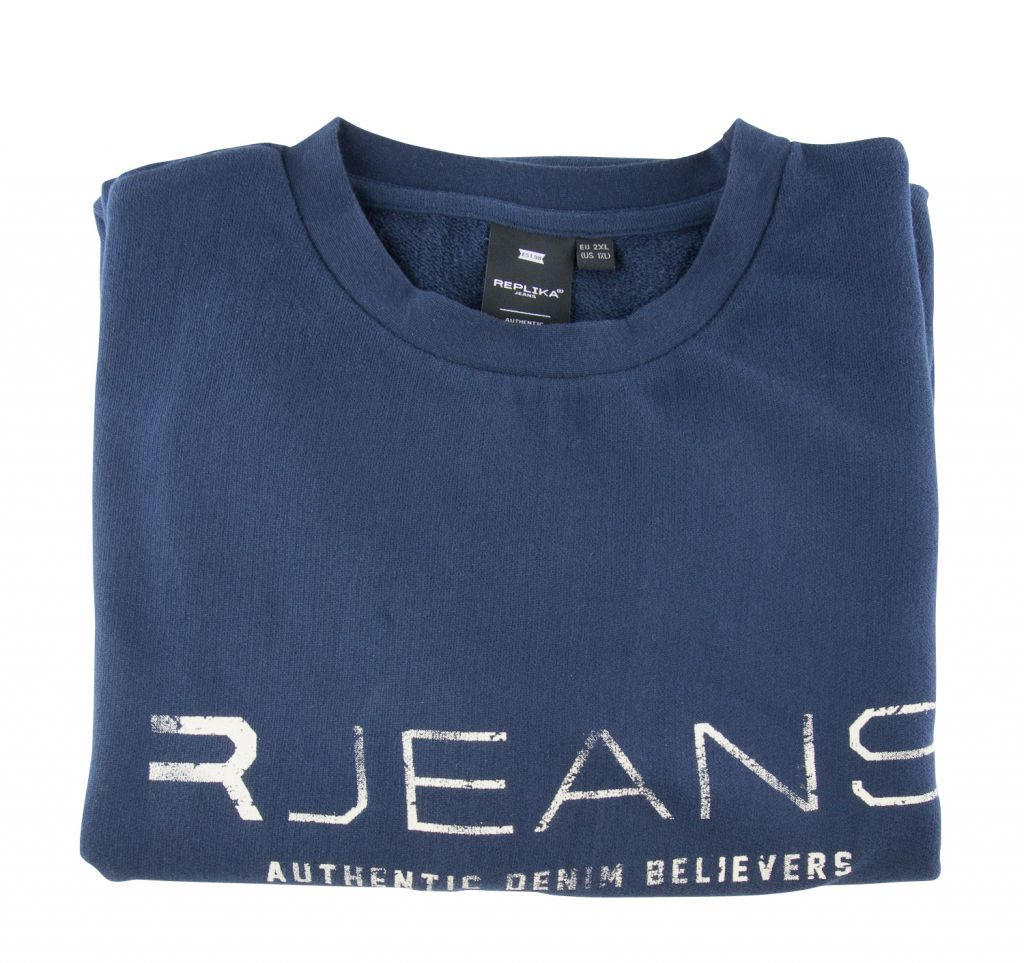 Sweat Col Rond Grande Bleu Marine du 2XL au 8XL All Size