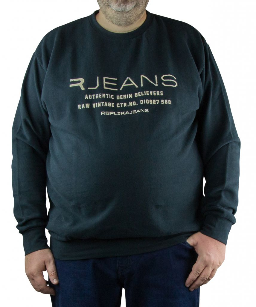 Sweat Col Rond Grande Taille Noir du 2XL au 8XL All Size