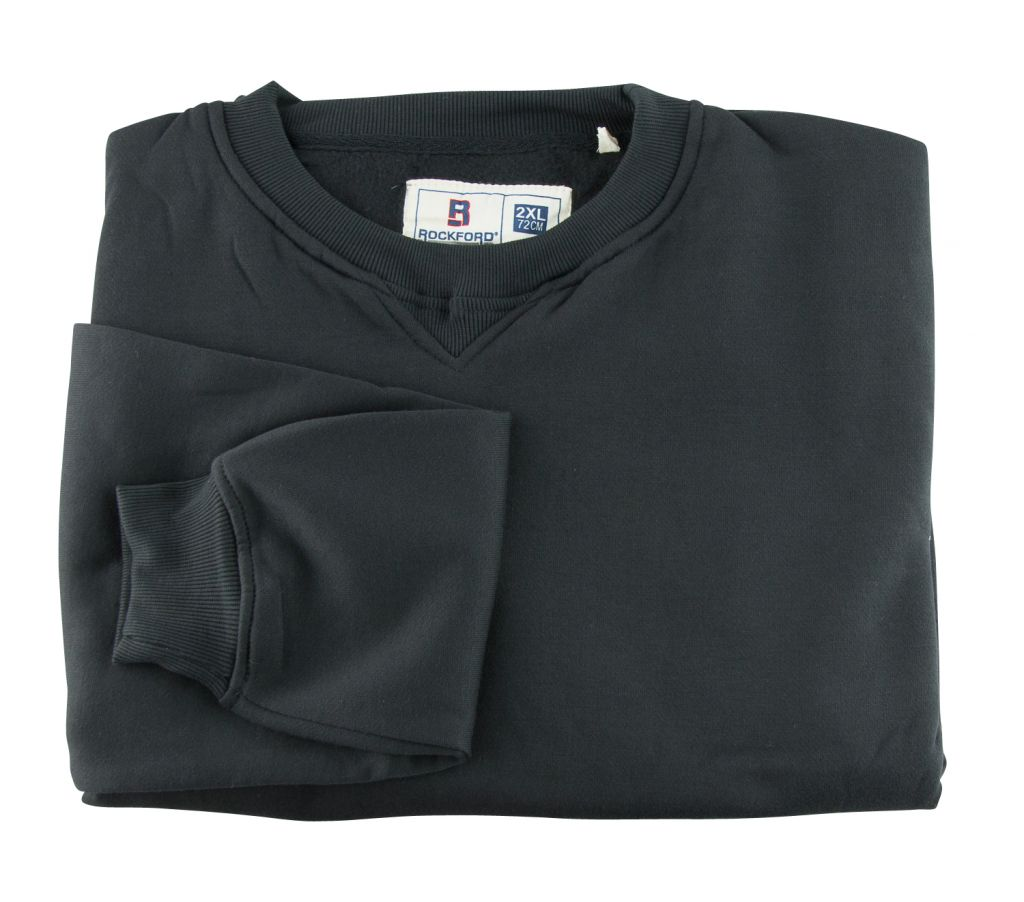 Sweat Col Rond Noir Grande Taille Homme DUKE