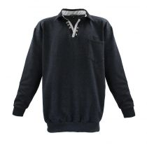 Sweat Col V Anthracite Lavecchia