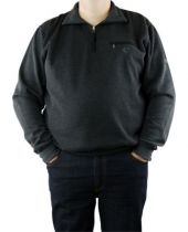 Sweat Col Zip Anthracite Monte Carlo