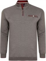 Sweat Col Zip Gris Kam du 2XL au 8XL