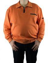 Sweat Col Zip Orange Monte Carlo
