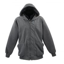 Sweat Zip à Capuche Anthracite Lavecchia