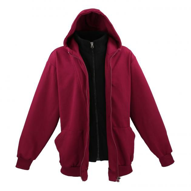 Sweat Zip à Capuche Bordeaux Lavecchia